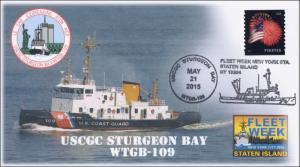 2015, USCGC Sturgeon Bay, Fleet Week, Naval, Pictorial, 15-155