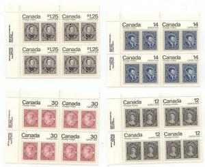 Canada USC #753-756 Mint 1978 Set of Four Capex Corner Blocks - VF-NH