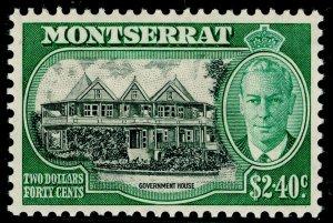 MONTSERRAT SG134, $2.40 black & green, LH MINT. Cat £18.