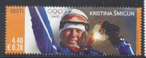 Estonia Sc 538 2006 Olympic Gold Medal stamp NH