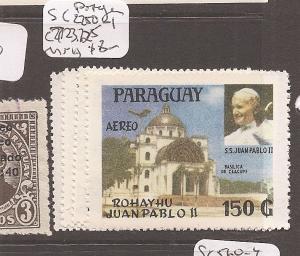 Paraguay A/M Pope John SC C250-1, C723-5 MNH (9cch)