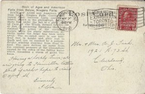 Canada  MR3a? War Tax Stamp -  Post Card Toronto to Cleveland  AUG 1918