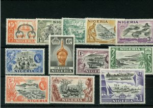 NIGERIA #80 - #91 * mint hinged Cat Value $75 - stamps