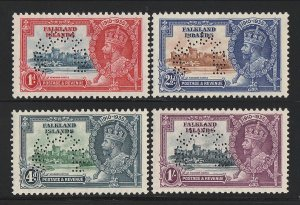 FALKLAND ISLANDS : 1935 KGV Silver Jubilee set SPECIMEN. MNH **. Rare genuine