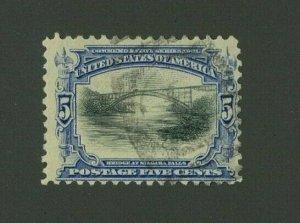 US 1901 5c ultramarine & black Pan-American, Scott 297 used, Value = $17.00