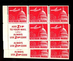 U.S. #C64B (5) MINT Slogan 3 F-VF OG NH Cat $60