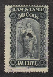 Canada Quebec Law Stamp (#QL36) Used