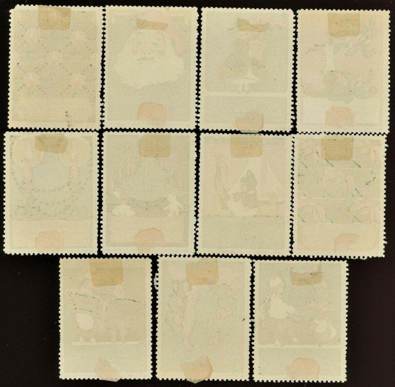 WOODWARD & LOTHROP Department Store Washington DC ( US Poster Stamp ) SET of 11