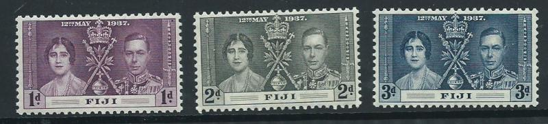 Fiji   SG 246  - 248  MH  set - Coronation
