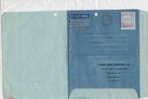 Pakistan 1966 Albert David Ltd Commercial Stamped Aerogramme to Holland Ref26665