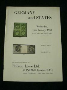 ROBSON LOWE AUCTION CATALOGUE 1964 GERMANY AND STATES