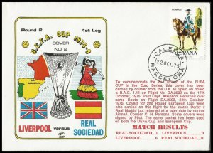 1975 Liverpool V Real Sociedad UEFA Cup Commemorative First day Cover