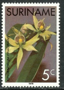 SURINAME 1975-76 5c ORCHIDS Issue Sc 431 MNH