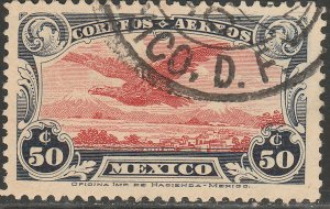 MEXICO C2, 50¢ Early Air Mail SINGLE. USED. F-VF. (1359)