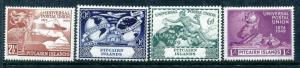 Pitcairn Island 13-16, MH, UPU-75 1949 Plane Ship Hemisphere Globe. x23120