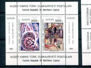 Turkey 1993, 1995 Europa sheets VF NH - Lakeshore Philatelics
