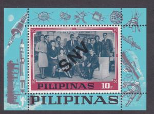 Philippines Unlisted Souvenir Sheet with Kennedy Family, NH, 1/2 Cat.