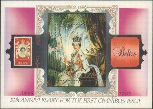 1985 Belize #764, Complete Set, Souvenir Sheet Only, Never Hinged