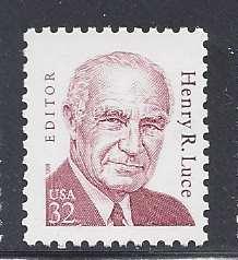 Catalog # 2935 Henry Luce Editor Single 32 Cent Stamp