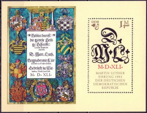 GDR. 1983. bl73. 500 years of Martin Luther. MNH.