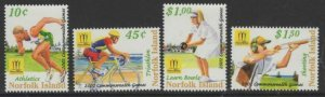 NORFOLK ISLAND SG809/12 2002 17th COMMONWEALTH GAMES MNH