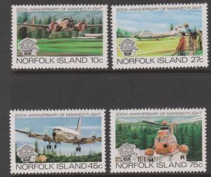 Norfolk Islands MNH 310-3 200th Anniversary Manned Flight