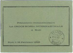 71658 - RODI Rhodes - POSTAL HISTORY -  OFFICIAL POSTAL FOLDER 1945 Red Cross