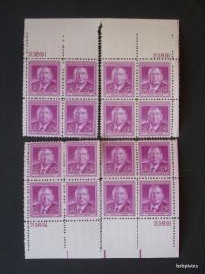 #965 Stone Matched Set of 4 Plate Blocks 23891 VF NH/LH