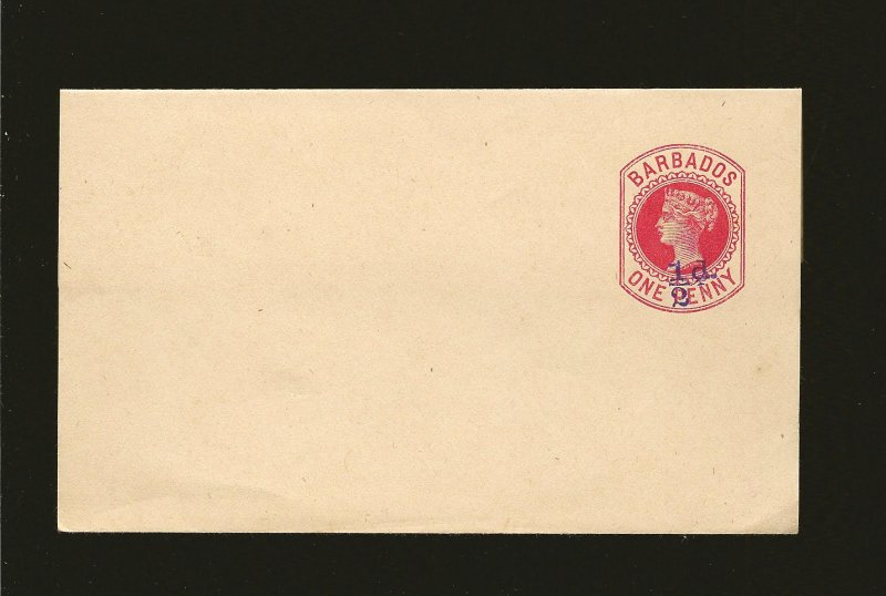 Barbados Queen Victoria 1/2D on One Penny Red  Newspaper Wrapper Unused