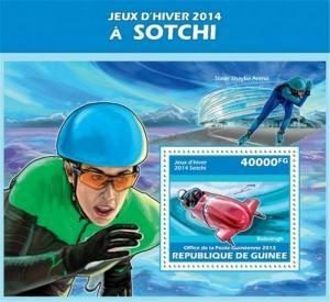Guinea - 2013 Sochi Winter Games 2014 - Stamp Souvenir Sheet - 7B-2323