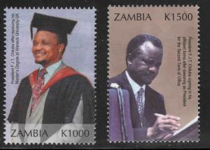 Zambia Scott 961-962 stamps