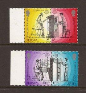 Jersey MNH 204-7 Europa Mail People 1979