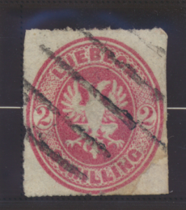 Lubeck (German State) Stamp Scott #10, Used - Free U.S. Shipping, Free Worldw...