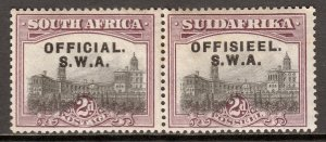 South West Africa - Scott #O8 - MH - Toning, unevenness - SCV $2.50