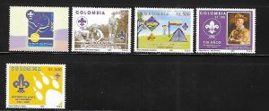 Colombia 2007 Scouting Centenary Sc 1274 Stamps MNH A1599