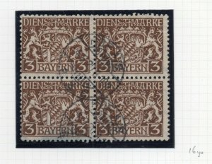 Bayern 1916 Official Early Issue Fine Used 3M. NW-10781
