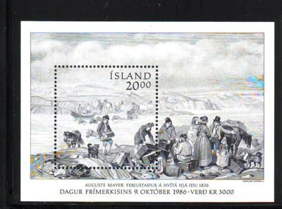 Iceland Sc634 1986 Stamp Day stamp sheet mint NH