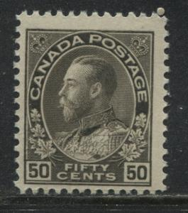 Canada KGV Admiral  50 cents black brown mint o.g.