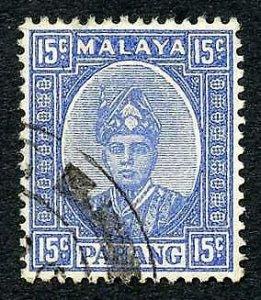 Pahang SG39 15c Ultramarine fine used Cat 70 pounds
