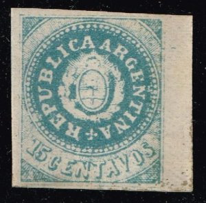 Argentina Stamp 1862 Coat of Arms Without Accent on U ($7,000) counterfeit