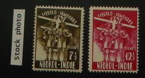 Netherlands Indies B30-31. 1937 Boy Scouts, NH