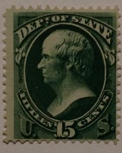 O64 Unused NG,15c Official, Extremely Clear, CV $130