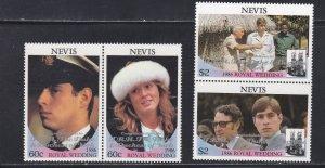 Nevis # 521-522, Prince Andrew Royal Wedding, Overprints, NH, 1/2 Cat.