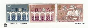 Great Britain (UK), 1053a,1056a, Europa 1984,Two Pairs,MNH