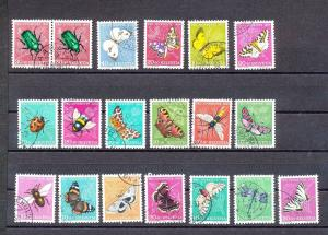 Switzerland 1950s/70s Charity Wildlife Flowers Insects Used (Appx 75)(GX 384s