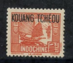 French Kwangchowan Sct # 137; Mint hinged