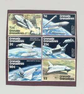 Grenada Grenadines #249-254 Space Shuttle 6v Imperf Proofs on Heavy Paper