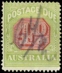Australia Scott #J55a Used  Perf 14