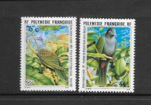 BIRDS - FRENCH POLYNESIA #661-2  MNH