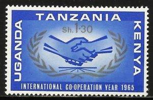 Kenya, Uganda & Tanzania 1965 Scott# 158 MH